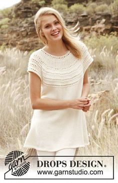 Excited to share the latest addition to my #etsy shop: Summer raglan tunic with lace and short sleeves https://etsy.me/2r6CUvV #clothing #women #shirt #handmade #knits #lightsweater #womensclothing #dropsdesign #romanticclothing #fashion #romantic #raglan #summer