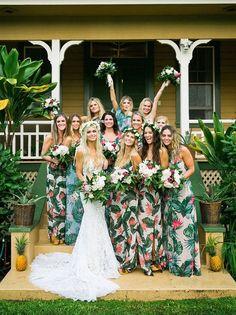 Trendy Wedding Dresses This Spanish pampas grass wedding backdrop