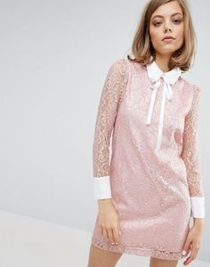 Sister Jane Lace Dress With Embellished Collar