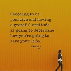 Choosing to be positive and having a grateful attitude is going to determine how you're going to live your life. #positivitynote http://ift.tt/2iCWAV4 #upliftingyourspirit