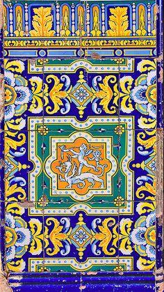 Amazing detail on these Old tiles in Havana, Cuba Tile Art, Mosaic Art, Mosaic Tiles, Varadero, Cuban Culture, Cuban Art, Art Ancien, Havana Nights, Cuba Travel