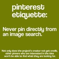 Pinterest tip: never pin from an image search.