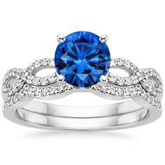 18K+White+Gold+Sapphire+Infinity+Matched+Set  +from+Brilliant+Earth