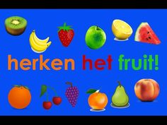 Leer Fruit Herkennen - YouTube Pizza Restaurant, Fruits And Vegetables, Kids Meals, Pear, Mango, Projects, Food, School, Fruits And Veggies