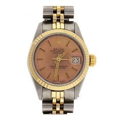 Rolex Lady's Stainless Steel and Yellow Gold Datejust Wristwatch Ref 6917 | From a unique collection of vintage wrist watches at http://www.1stdibs.com/jewelry/watches/wrist-watches/