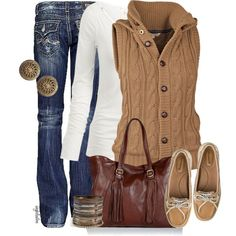 I have never seen a more perfect outfit for fall!! I need this outfit. But with boots :)
