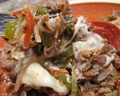 Crockpot Philly Cheese Steak Casserole - Changing Lives One Pound At A Time