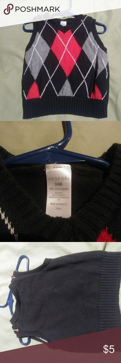 George/ Boys/ Sweater Vest/ Size 24 month George/ Boys/ Sweater Vest/ Size 24 month. 100% cotton George Shirts & Tops Sweaters