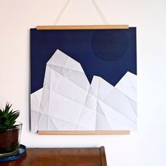 Mountains of Ice #3, do you like it?  Art landscape graphic illustration poster by Irene Linders