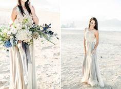 Washed Up Beach Wedding Inspiration, beautiful dress