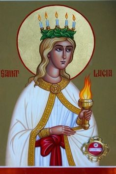 St Lucy, patron saint of writers