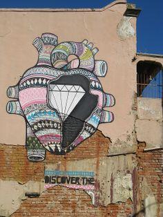 """ ""Discover the Diamond Inside You"" Installation Street Art, Black Artists, Street Art Graffiti, Disney Drawings, Tumblr, Public Art, African Art, Cape Town, Urban Art"