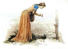 medieval lady Alan Lee