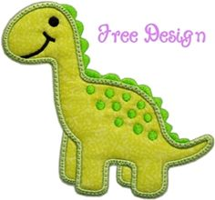 FREE Darling Dino Applique