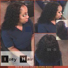 Sew-in Weave Curls (Natural Black)  .  Las Vegas, NV  .  .  .  .  .  .  .  #CurlyWeaves #MiddlePart #Weave #Weaves #HairWeave #Curls #Sewin #SewinWeave #WeaveStyles #UnprocessedHair #HairWeft #Braids #Braiders #Braider #BlackHairStyle #ProtectiveStyle #ProtectiveStyles #HairStylist #HairBraider #AfricanBraider #HairExtensions #AfroTexturedHair #AfricanBraiding #izeyhair