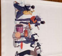 Cazcı kardeşler runner Stationary, Bike, Vehicles, Handmade, Placemat, Napkin, Towels, Bicycle Kick, Hand Made