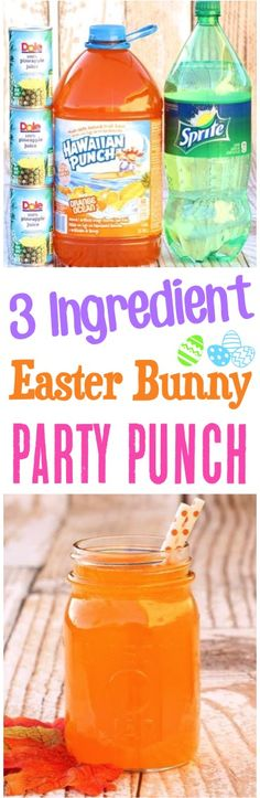 Easter Punch Recipes! This spring beverage with pineapple juice is a perfect party drink idea for kids!