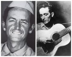 Woody Gurthrie-Merchant Marines and later Army-WW2-was aboard 3 different ships and the last one arrived in Normandy after D-Day and was sunk. He went AWOL once but returned and given 2 weeks confinement. Discharged as a private in 1945. (Folk Singer)