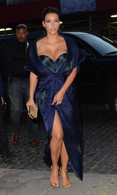 Kim Kardashian arriving at Khloe Kardashian's 30th birthday party. www.handbag.com