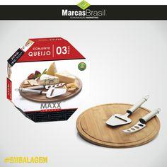 Embalagem – Maxx Import > Desenvolvimento da embalagem e produção de foto para o Conjunto de 3 peças para queijos da Maxx Import < #embalagem #marcasbrasil #agenciamkt #publicidadeamericana