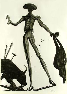 Salvador Dali, Torero Noir.