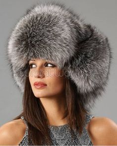 41e08d22170 Ladies Silver Fox Full Fur Russian Hat