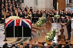 17th April 2013 Prime Minister David Cameron gives the New Testament reading at Baroness Thatcher's funeral.