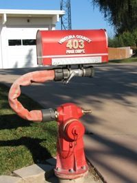 fire hydrant mailbox - This is a must Firefighter Decor, Volunteer Firefighter, Firefighters, Firemen, Firefighter Family, Firefighter Pictures, Fire Dept, Fire Department, Unique Mailboxes