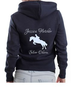 Cute Personalised Horse Name & Owner Hoodie. Polo or T-Shirt