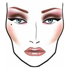 Pure Bliss Bridal & Beauty House: The following face charts are from MAC Cosmetics