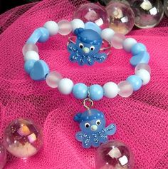 Kids Icon Ring/Bracelet Set - Octopus at theBIGzoo.com, a toy store featuring 3,000+ stuffed animals.