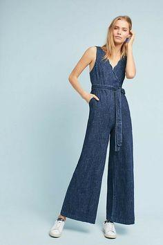 a841bd642233 Details about New Anthropologie Pilcro Lydia Jumpsuit  158 Size 6 Blue  Speckled