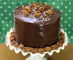 #GlutenFree Sweet and Salty Pretzel Cake.