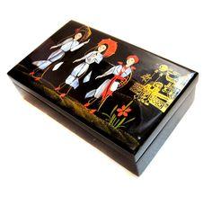 Oriental Jewelry Box, Black / Mother of Pearl