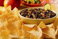 Mango Tango Dip - Get your holiday groove on with this dip that's bursting with the flavor of the tropics. It's the perfect escape on those chilly winter days. Corn Tortilla Recipes, Dip Recipes, Snack Recipes, Latin Food, Yummy Snacks, Tasty Dishes, Cooking Time, Cravings, Food To Make