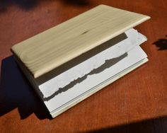 Woodish, hand-crafted with passion. A notebook made of wood