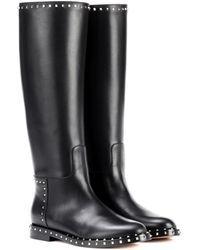 Valentino   Garavani Leather Knee-high Boots   Lyst