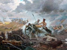 """The feat artillery battery Rajewski, 1812"" Sergey Troshin (Трошин Сергей)"