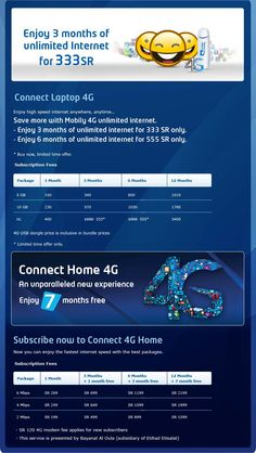 Pin by sapackagesalmams on mobily package | Internet packages, 4g