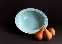 Esmond Ovenware Aqua Bowl by 1006Osage on Etsy