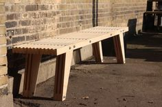 Bench made from plywood leftovers. #Plywood #DIY #Handcraft #Bench #Recycle #Upcycle
