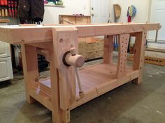 Find attached my split-top Roubo-style woodworking bench featuring your Leg and Wagon vise screw kits. It is made from West Coast Douglas Fir and also . Woodworking Store, Woodworking Books, Woodworking Workbench, Woodworking Projects, Garage Workshop Plans, Workbench Designs, Metal Drawers, Lake Erie, Small Boxes