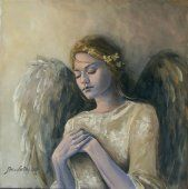 Angel, Painting by Dorina Costras Angels Among Us, Angel Guide, Angel Images, Kunst Online, I Believe In Angels, My Guardian Angel, Angels In Heaven, Heavenly Angels, Angel Cards