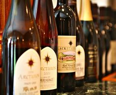Black Star Farms wine- late harvest reisling