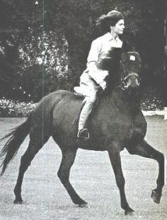 Jackie riding Sadar