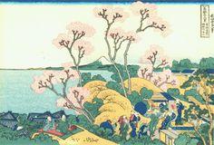 「東海道品川御殿山の不二」 葛飾北斎 富嶽三十六景