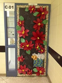 This is our Holiday Door for the door decorating contest at our school.
