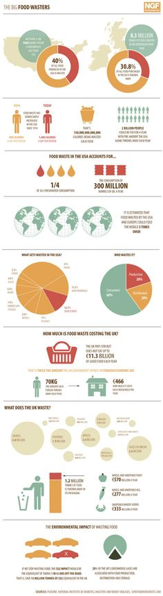 Damn.  Definitely something to be more conscious about.  food wasters #infographic