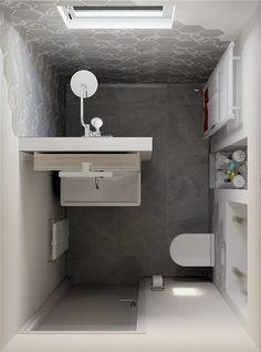 Small Bathroom Layout, Simple Bathroom, Modern Bathroom Design, Bathroom Interior Design, Bathroom Ideas, Bathroom Designs, Bathroom Organization, Restroom Ideas, Bathroom Showers