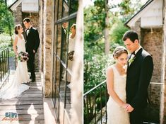 Holly Hedge Estate Wedding Photos in New Hope | Bride and Groom on the Old Barn balcony